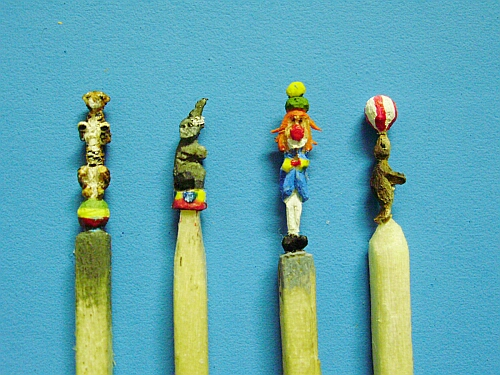 Hand carved circus from match sticks!
