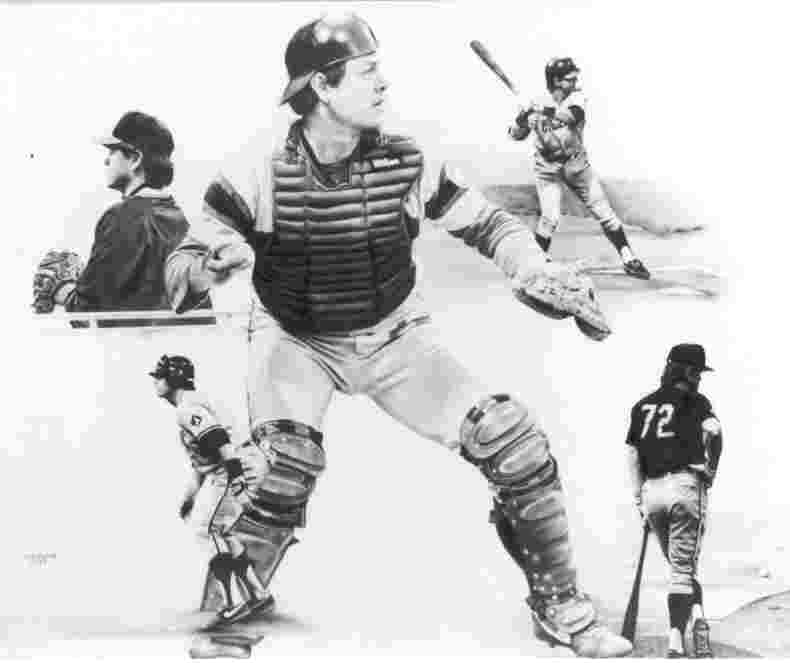 Carlton Fisk pencil drawing