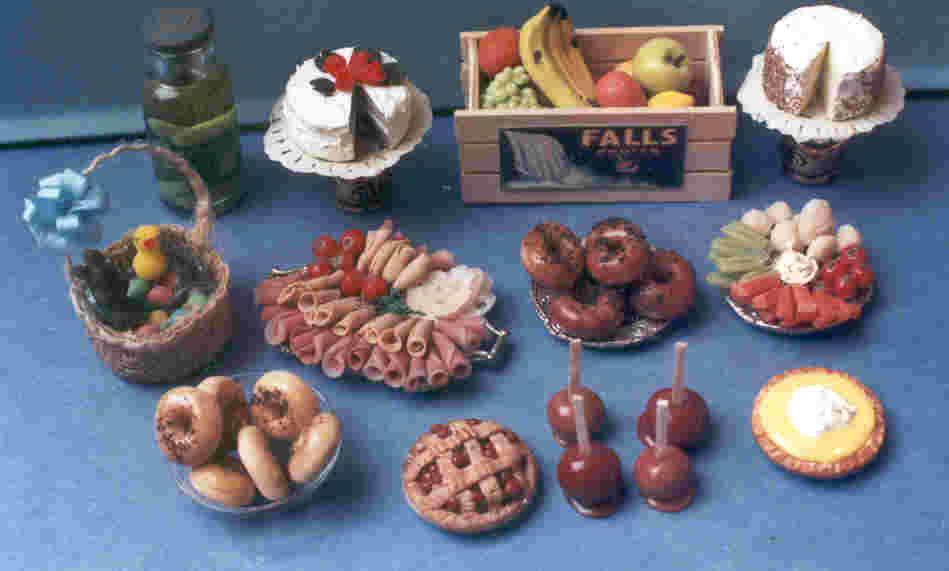 Dollhouse Miniature Clay Food