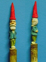 hand carved gnome toothpich