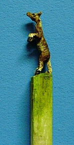 hand carved horse match stick