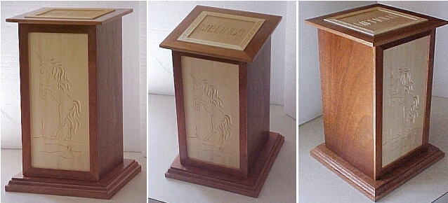 custom carved human urn
