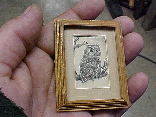 matted framed dollhouse miniature art