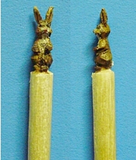 hand carved rabbit toothpick
