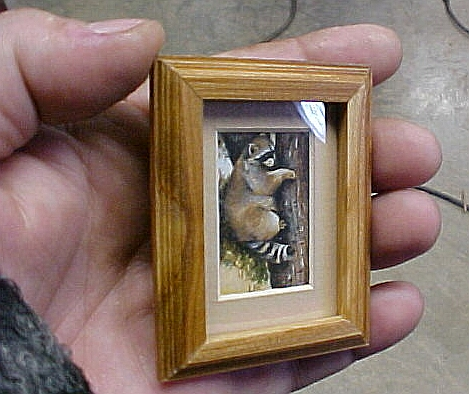 miniature framed dollhouse art