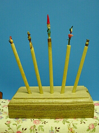 Hand carved toothpicks!