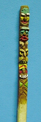 hand carved totem pole matchstick